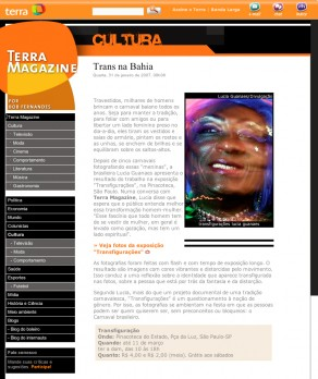 Lucia Guanaes - article - Transfigurations - Terra Magazine - 2007-01-31