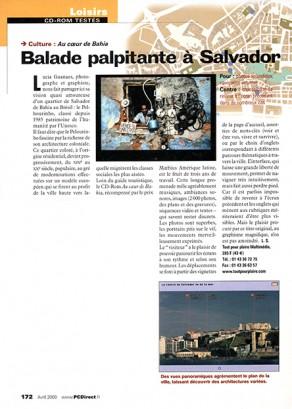 Lucia Guanaes - presse - Au coeur de Bahia - PC Direct - 2000-04