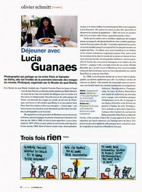 Lucia Guanaes - presse - Le Monde Deux - 2007-10-27