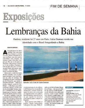 Lucia Guanaes - presse - A Tarde - 2005-01-07