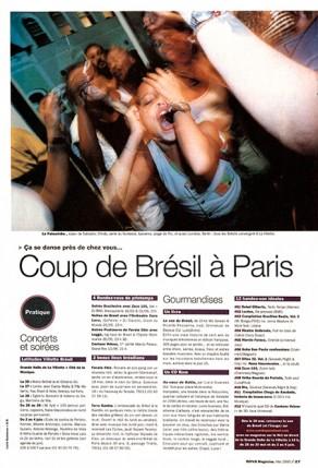 Lucia Guanaes - presse - Au coeur de Bahia - Nova - 2000-05
