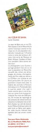 Lucia Guanaes - presse - Au coeur de Bahia - Photos nouvelles - 2000-06