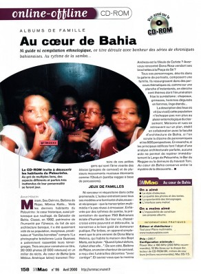 Lucia Guanaes - presse - Au coeur de Bahia - SVM Mac - 2000-04