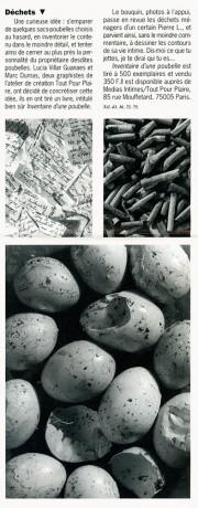 Lucia Guanaes - presse - Inventaire d'une poubelle - BAT - 1991-09