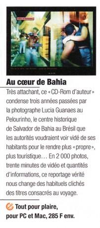 Lucia Guanaes - presse - Au coeur de Bahia - Euréka - 2000-04