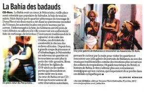 Lucia Guanaes - presse - Au coeur de Bahia - Libération - 2000-02-11