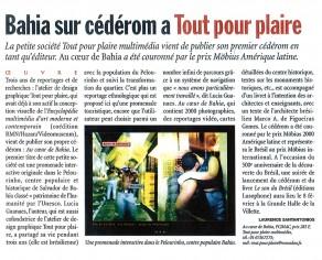 Lucia Guanaes - presse - Au coeur de Bahia - Livres Hebdo - 2000-01-28