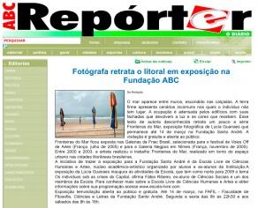 Lucia Guanaes - article - Frontières de la Mer - ABC Reporter - 2009-03
