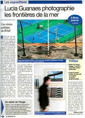 Lucia Guanaes - article - Frontières de la Mer - Semaine de Nîmes - 2005-11