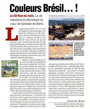 Lucia Guanaes - presse - Au coeur de Bahia - Géo - 2000-04