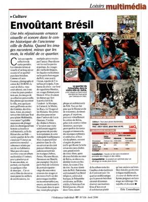Lucia Guanaes - presse - Au coeur de Bahia - L'Ordinateur Individuel - 2000-04